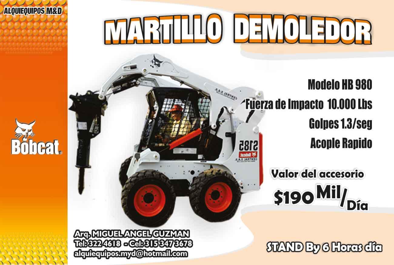 Alquiler de Minicargadores con Martillo Demoledor