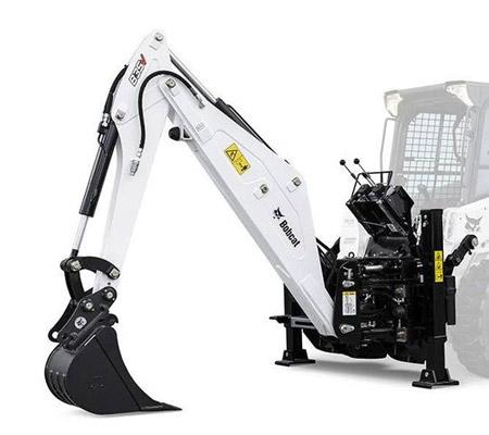 alquiler minicargador brazo excavador